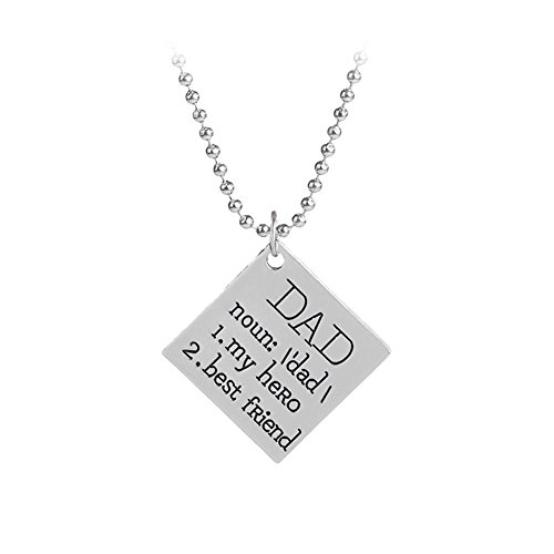 Father#039s Day Gifts Dad My Hero Best Friend Pendant Necklace Birthday Gifts for Dad Daddy from Daughter Son
