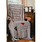 Pawprints Left by You Pet Memorial Blanket with Heartfelt Sentiment - Comforting Pet Loss/Pet Bereavement Gift (Non Personalized) 13
