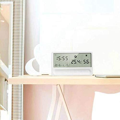 Noblik Digitales Hygrometer Thermometer Innenraum Au?En Temperatur Feuchte Messger?T LCD St?Nder Magnetischer Hintergrund Sensor Monitor mit Feuchte Messger?T Wetter Station mit Uhr