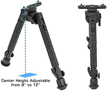 M-LOK UTG Recon 360/® TL Bipod hauteur centrale 20,3-30,5 cm