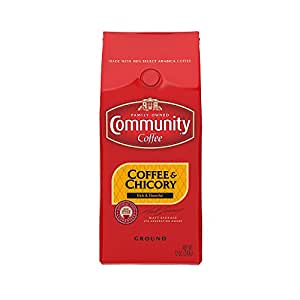 Community Coffee Ground Coffee and Chicory, 12 Ounce  (Pack of 6)