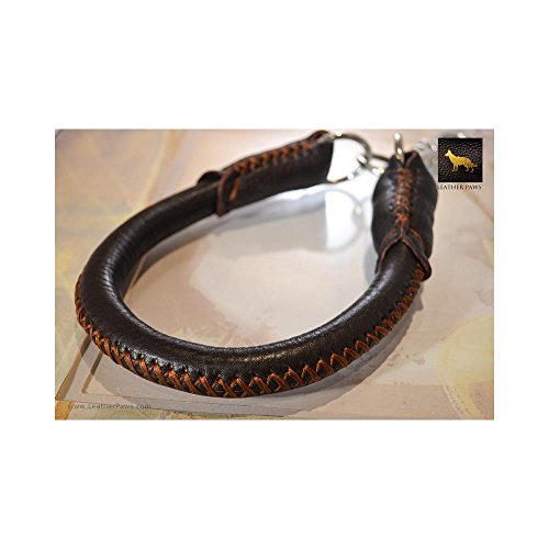 Leather Paws 1 Feet Donut Short Leather Leash