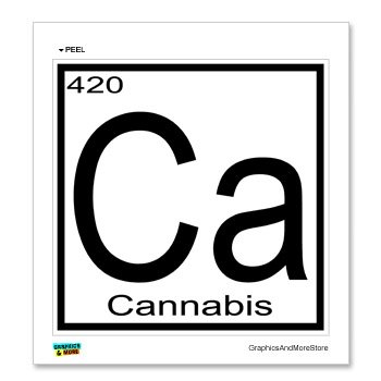 Amazon cannabis 420 ca periodic table window bumper cannabis 420 ca periodic table window bumper locker sticker urtaz Gallery