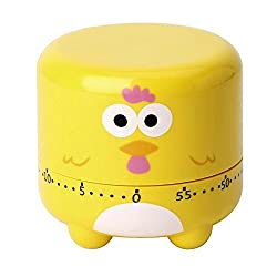 Merssavo Cartoon Animal Timer Kitchen 55 Minutes Countdown Cooking Tools Yellow