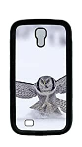 Customized Dual-Protective case for samsung galaxy s4 4d - Gray owl snow