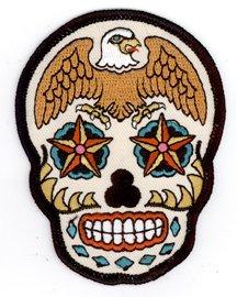 Sunny Buick - Eagle Sugar Skull - Embroidered - Sunnies Designer