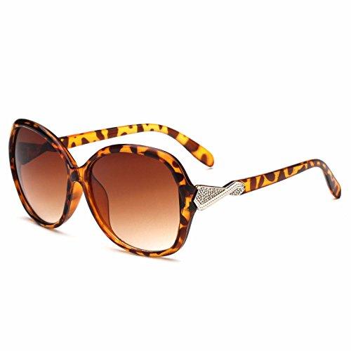 para espejo multicolor d UV400 de gran mujer de marco rana redondos Opcional Gafas de de H sol lentes RDJM tendencia gTtfqPg