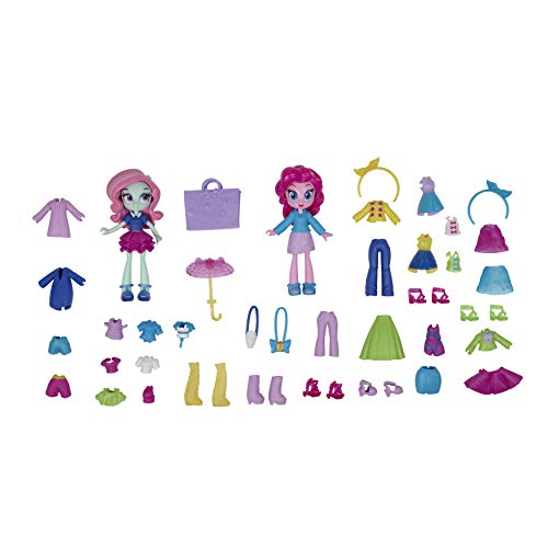 My Little Pony Equestria Girls Fashion Squad Pinkie Pie and Minty Mini Doll Set -- 2 Toy Dolls and Over 40 Fashion Accessories