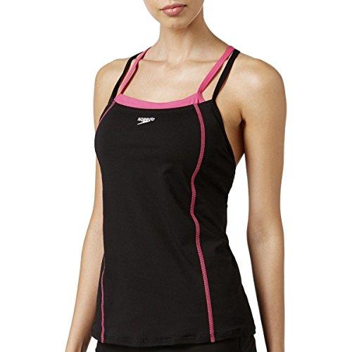 - Speedo Women's Endurance+ Double Strap Tankini Top, Power Pink, Size 10