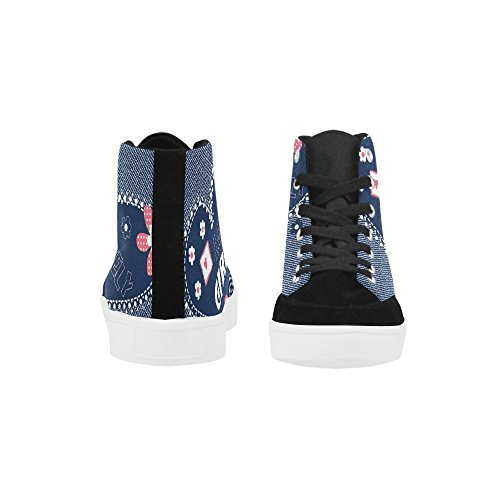 Beautiful With Jeans For InterestPrint Shoes on High Heart Butterfly Women On Top Fashion Beautiful Flowers Jeans xwWqv1wgZ7