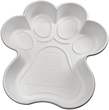 One Dog One Bone Paw Shaped Play Pool for Dogs, White