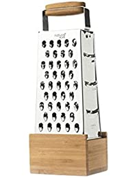 Get Elegant Bar Restaurant kitchen clean bamboo catch 4 Stainless Steel Cheese Sided New Container Kitchenaid Parmesan... dispense