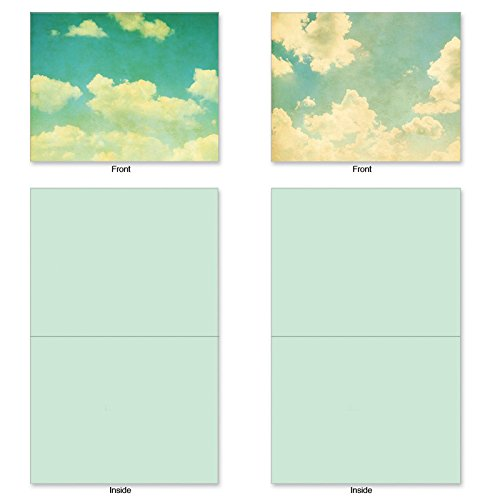 M2036 CLOUD Assorted Blank Cards w/Matching