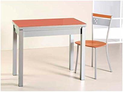 Amuebla 525. Mesa DE Cocina Extensible DE 90 X 50 CM.: Amazon.es ...