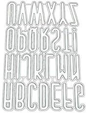 BMBN Dies stencil, alfabet grupp gör-det-själv metallskärning schablon scrapbooking för album stämpel papper kort hantverk dekor