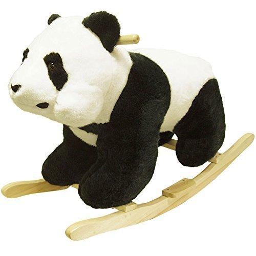 Happy Trails Panda Plush - Plush Children's Rocking Panda Bear