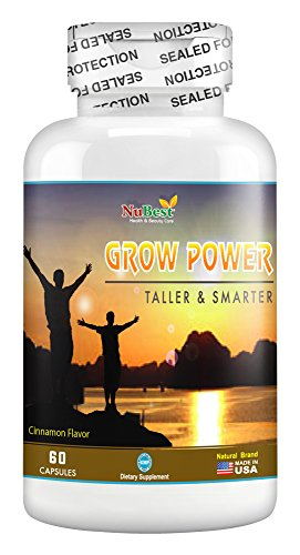 Growth Pills (Grow Power Pills - Maximum Natural Growth Height Formula for Children and Teens-Height Growth Supplement - How to Grow Taller | 60 Veggie Capsules)