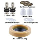 Universal Toilet Wax Ring Kit With Bolts,PE Flange