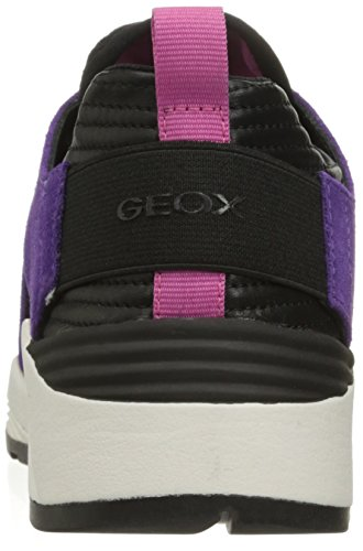 Mujer Plus Violett D blackc8227 Zapatillas purple Omaya Para A Geox qYp4E