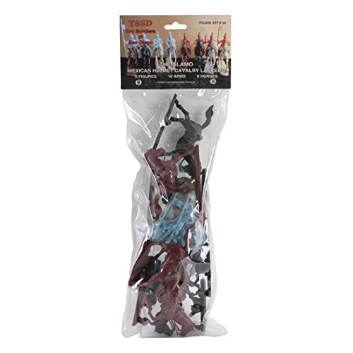 (TSSD ALAMO Mexican Cavalry: 16 BLUE 1:32 Plastic Soldier and Horse Figures)