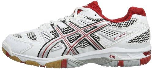 Volley blanc Gel Chaussures Rouge Pour Hommes tactic ball Blanc De 6w8qgH