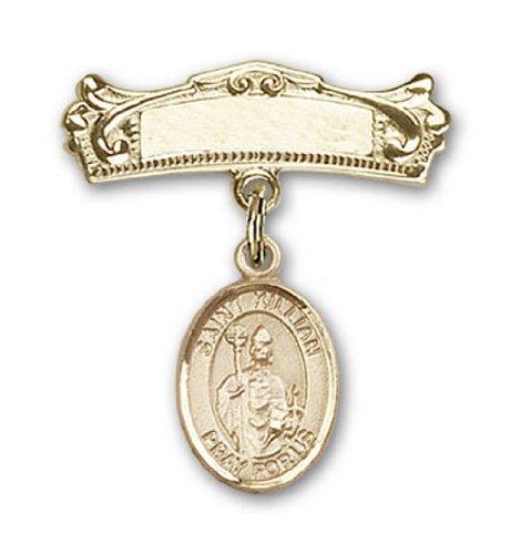 Icecarats Or Bijoux De Créateurs Rempli R. Kilian Charme Broches Badge Arc 7/8 X 3/4