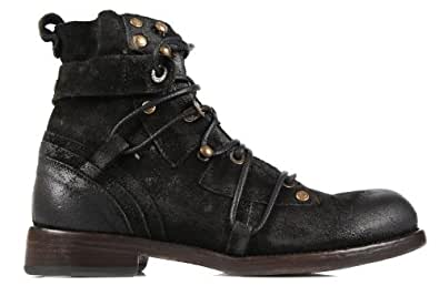 DOLCE&GABBANA men's genuine leather ankle boots black US size 8.5 CA5336 A1819 80999