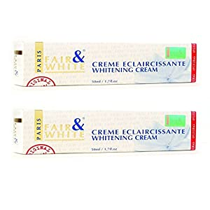Fair & White Cream Eclaircissante Whitening Cream, Removes Skin Blemishes, Vibrant Complexion, (2-Pack) 1.7oz, By Fair & White