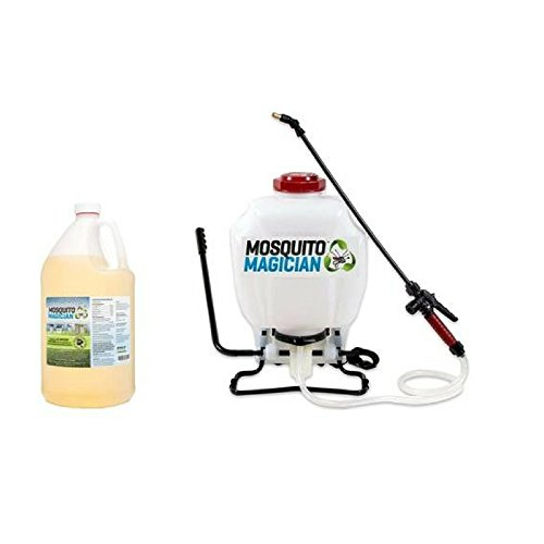 Mosquito Magician Pump Up Backpack Sprayer with 1 Gallon Natural Mosquito Killer & Repellent Concentrate by Mosquito Magician