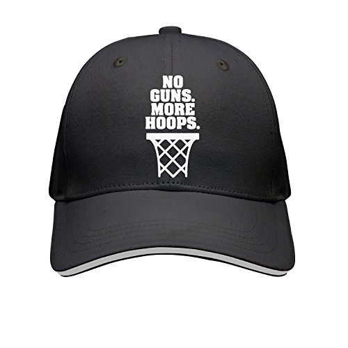 klkikewe Unisex No Guns More Hoops Vintage Visor Hats Pattern Cap