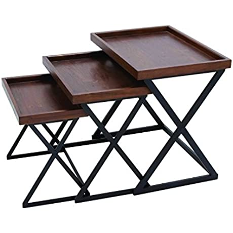 Benzara Durable And Metal Crafted Accent Table With Strong Stand Brown