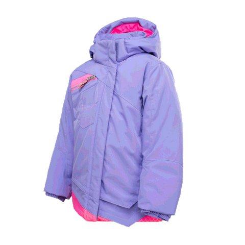 Spyder Bitsy Mynx Jacket - Toddler Girls - Purple/bryte Pink Honeycomb (5)