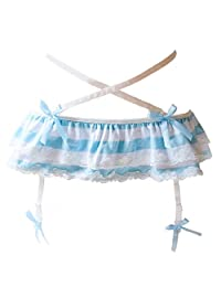 Joyralcos Japanese Striped Panties Bikini Cotton Anime Blue Pink Cosplay Underwear 2 Pack Briefs