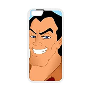 Disney Beauty and the Beast Character Gaston iPhone 6 Plus 5.5 Inch Cell Phone Case White 53Go-128120