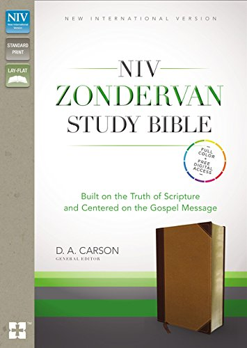 NIV Zondervan Study Bible, Leathersoft, Tan/Brown, Indexed: Built on the Truth of Scripture and Centered on the Gospel Message PDF