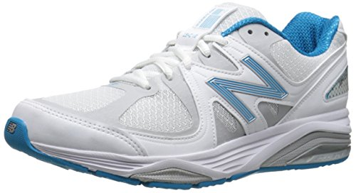 New Balance Women's W1540V2 Running Shoe, White/Blue, 8 B US