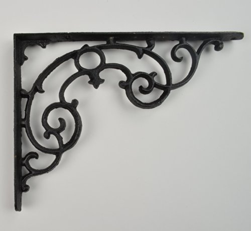 Wall Shelf Bracket - Ornate Pattern - Cast Iron - 11.25'' Long by UD