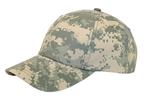 G Men's Enzyme Washed Camouflage Cap (Digital Camo) (Camo Cap Washed)