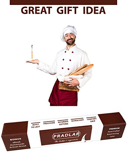 Baker's Premium Bread Lame - 6 Blades, Leather Protective Cover and Artisan Bread Bakers eBook Included - Top Quality Bread Scoring Tool by Pradlar by PRADLAR (Image #6)
