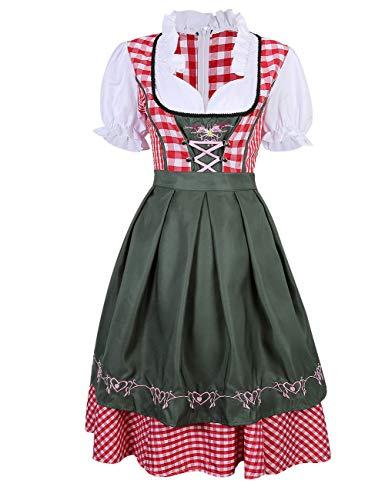 FidgetGear German Bavarian Dirndl Dress Oktoberfest Beer Girl Costume Size S-XXL S ()
