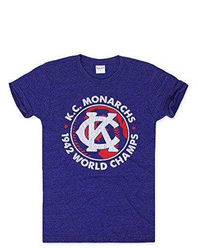 Charlie Hustle Unisex Negro League Kansas City Monarchs '42 Champs T-Shirt XS Heather Navy