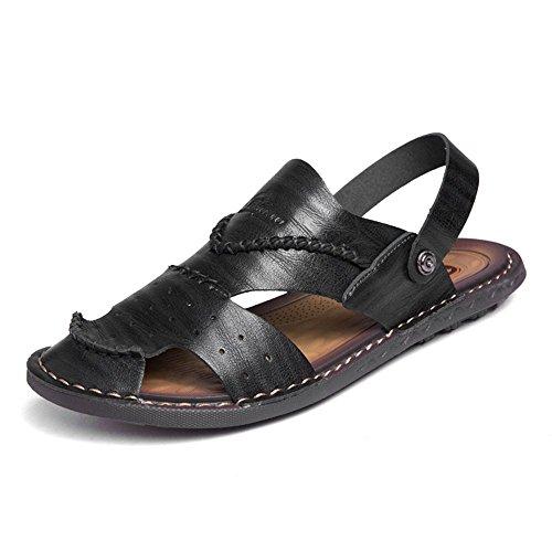 Zapatos en Planas Hombre Moda Slip de Negro de los Sandalias x6OYqw