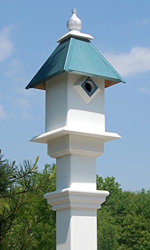 Classic Bluebird House and Decorative Mounting Post Package