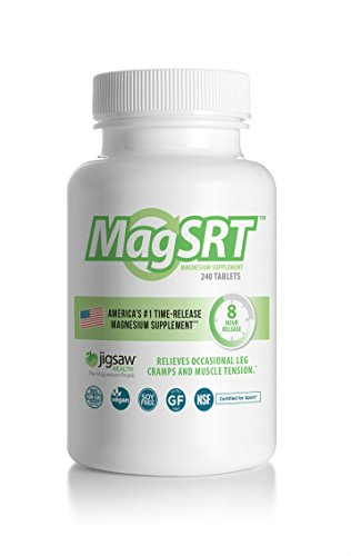 MagSRT (Jigsaw Magnesium w/SRT) Organic, Slow Release Magnesium Malate Supplement - Active, Bioavailable Magnesium Malate Tablets - 240 ct