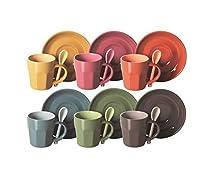 Soul Kitchen Taza De Café con Plato 6 Piezas Hug Multicolor