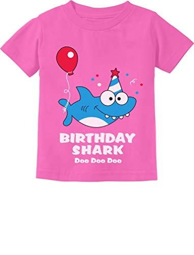 Tstars - Birthday Shark Doo doo Song Funny Gift Toddler Kids T-Shirt 3T Pink