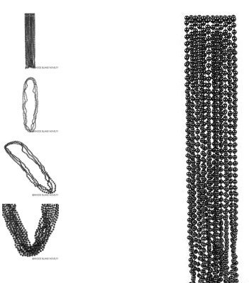 (36) 33'' 7mm Black Beads ~ HALLOWEEN IS HERE!