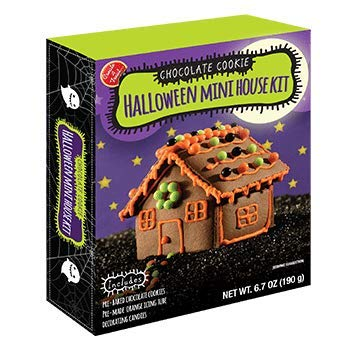 Create A Treat Chocolate Cookie Halloween Mini House Kit! Accessories Included! Decorate and Design Your Own Spooky Creation and Then Eat and Enjoy! -