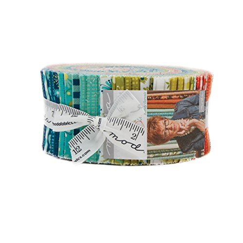 Quilt Fabric Strips (Sandy Gervais Well Said Jelly Roll 40 2.5-inch Strips Moda Fabrics 17960JR)