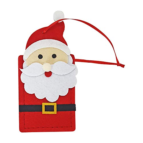 Christmas Reusable Felt Gift Card Holders- Set of 6 (Santa) (Tags Gift Felt)